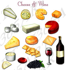 Cheese Clipart Set (D.Shawnte) Tags: new party holiday art cheese scrapbooking wine clip clipart years invitations