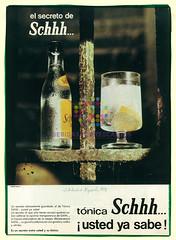 "Schweppes. ""Mesa antigua"". 1970"