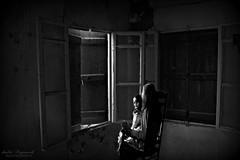 the haunted.....b/w (Dimitra Kirgiannaki to feel or not to feel) Tags: old windows winter light blackandwhite house abandoned girl monochrome photoshop greek photography ruins dolls digitalart spooky greece horror imagination ghosts february attica thriller 2014 dimitra kavouri absoluteblackandwhite alwaysexcellent haunded mygearandme mygearandmepremium mygearandmebronze nikond3100 kirgiannaki