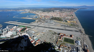 Gibraltar Isthmus, Airfield & Spain