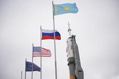 Expedition 39 Soyuz Rollout (201403230023HQ) (NASA HQ PHOTO) Tags: train flag nasa kazakhstan baikonur baikonurcosmodrome soyuzrocket roscosmosrussianfederalspaceagency joelkowsky expedition39 expedition39preflight soyuztma12m