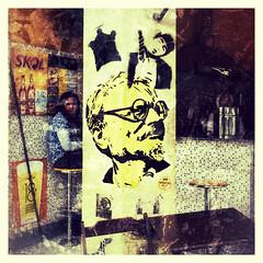 Corner store with Trotski