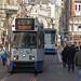 Amsterdam, Leidseplein, People Living with Trams