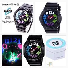 "Pre order USA ( 25 วัน )  G-SHOCK Women's BGA-131 Baby-G Watch  ราคาบ้านเรา 5,xxx   ราคาเพียง 3,999 บาท ส่งศูนย์ในไทยได้ นับประกันโดย Brand 2 ปีค่ะ    Features Shock resistant; UV-led ""neon illuminator"" black light World time; 4 daily alarms + 1 snooze St"