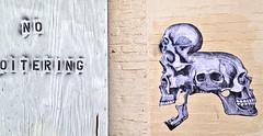 no oitering skulls small (T0VEN) Tags: city urban streetart art skeleton skull graffiti artist decay wheatpaste obey banksy baltimore urbanart vandal streetartist vacant vandalism bones deviant spraypaint shepardfairey woostercollective juxtapoz toven vandalog warehousexgraffiti artxlowbrowxartxpaintingxpaintingsxdrawingxstreetxspraypaintx