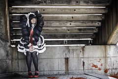 Ephyra Cosplay - Celestia Ludenberg (Happy Pause) Tags: stairs happy blood cosplay innocent evil caution convention villain con murderer trigger havoc celestia 2015 shuto ludenberg shutocon danganronpa celestialudenberg danganronpatriggerhappyhavoc shutocon2015 ephyracosplay happypausephotography