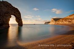 Durdle Door at sunset (Andrew H-W) Tags: uk beach places dorset durdledoor jurassiccoast 2013 andrewhaywardwills