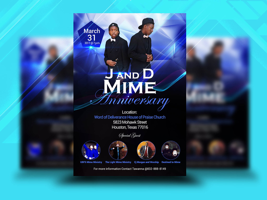 j and d mime anniversery church flyer church flyers amelia tags flyer design