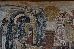 _DSC0035_cw (Wylf) Tags: soviet urss mozaika mosaic urbex cold war youri gagarine ussr hero urbexu history old