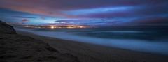 Monterey at Midnight (danielledufour430) Tags: beach marina monterey montereybay sea ocean midnight city citylights california sky clouds landscape pacificocean sonya6000