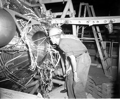 Atlas Collection Image (San Diego Air & Space Museum Archives) Tags: flashlight wristwatch 1959 missile atlas apexsustainertank tank propellant worker harness tubing industrial factory assembly hardhat ladder stepladder adelclamp socket extension shoring sphere gawk inspect
