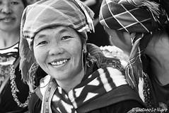 Hmong B & W (Under the Bridge 80) Tags: nikon d90 24120 blackandwhite black white bw biancoenero bianco nero monochromatic people portraits portrait ritratto ritratti street nikkor hmong woman women lady village sapa tribù tribe etnic vietnam