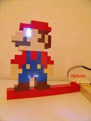 Deco Lego Nintendo (Old School Brick) Tags: nintendo lego mario block light whomp champi moc