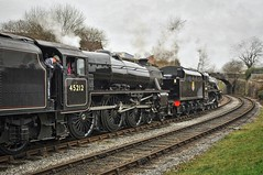 Heywood Lancashire 11th March 2017 (loose_grip_99) Tags: eastlancs railway railroad rail train heywood lancashire england uk gala steam engine locomotive lms stanier black5 460 45212 45407 elr br transportation preservation gassteam uksteam trains railways march 2017