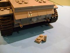 Lego custom made muffler ends for my Panzer 3 (tekmoc17) Tags: lego tank panzer 3 iii ausf j german brick muffler modified custom moc hand made grey ww2 2 war world