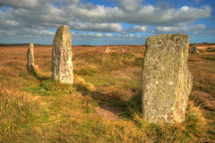 Boskednan Stone Circle (Rich3012) Tags: uk england stone standing circle landscape countryside ancient cornwall britain stones nine landmark moor hdr cornish moorland maidens boskednan