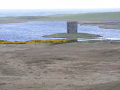 MacLeod's Folly (leedslily) Tags: sea tower window water grass yellow stone island scotland north loch isle folly uist gorse scolpaig macleodsfolly