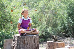 Butterfly Meditation (Diana's Photo-Art) Tags: cute nature grass forest children butterflies meditating secrets littlegirls shiplynaturecenter