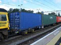 92636 Northampton 110912 (Dan86401) Tags: wagon northampton flat container fl 92 freight modal rls kfa freightliner intermodal 92636 railease 4o86 standardwagon rls92636