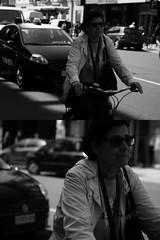 [La Mia Citt][Pedala] (Urca) Tags: portrait blackandwhite bw italia milano bn ciclista biancoenero bicicletta pedalare 2013 5655 dittico ritrattostradale nikondigitalefilippetta