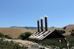 Three stacks and a hillside (emdot) Tags: slocounty sanluisobispo calpoly polycanyon designvillage