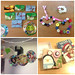 recycled images, juice carton wallets, button braclets, xmas card boxes