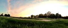 La petite valle (MacSmiley) Tags: camera sunset panorama grass southdakota rural ditch iphone5 iphoneography clarifysetting