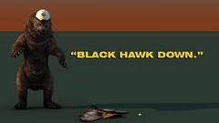 "Bruins Bear "" Black Hawk Down"""