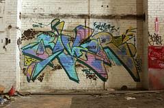 RIVER (The Braindead) Tags: art minnesota train bench photography graffiti painted tracks minneapolis rail explore beyond the