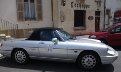 Alfa Romeo Spider (Nicola_R) Tags: holiday france classic car silver french spider convertible places alfa romeo visiting touring autun