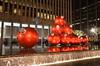 1251 Avenue of the Americas at the holidays (afagen) Tags: christmas nyc newyorkcity red sculpture newyork night manhattan rockefellercenter ornament gothamist radiocitymusichall exxonbuilding 1251avenueoftheamericas