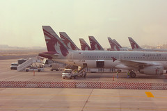 Qatar Airways at Doha Airport (Brian Aslak) Tags: airport asia airplanes airline doh doha qatar   dohaairport dohainternationalairport