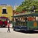 Carrozze turistiche nella Plaza Principal di Campeche