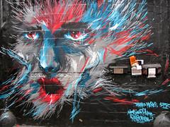 Furry Face (edenpictures) Tags: nyc newyorkcity streetart art werewolf painting graffiti mural queens spraypaint longislandcity 5pointz wolfwoman monsieurplume raidcrew