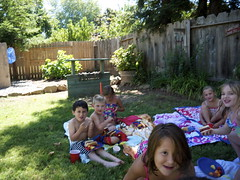 Chico Visit (davitydave) Tags: california family boy shirtless wet water girl cake swim kid child birthdayparty swimmingpool present chico swimsuit bathingsuit