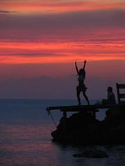 Benirrás, Ibiza (miljavanipanema) Tags: sunset girl dancing ibiza hippie benirrás