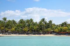 Mauritius - a beach viewed form the water (Romeodesign) Tags: ocean sea beach palms island maurice indianocean shoreline ile resort shore tropical mauritius 550d