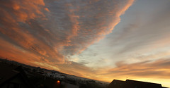 Sunset (Bleller) Tags: sunset red nature beautiful clouds iceland amazing reykjavik stunning skyplay