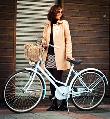 Blue Bike (marywilson's eye) Tags: birthday street blue woman me smile bike azul vintage happy 50mm mujer nikon basket happiness bicicleta retro cycle bici selfie clasic clasica d90 marywilson vsco