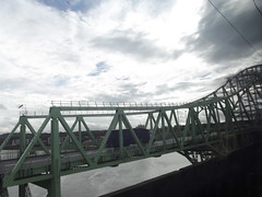 Runcorn Railway Bridge and Silver Jubilee Bridge (ell brown) Tags: greatbritain bridge england cheshire unitedkingdom bridges runcorn widnes rivermersey silverjubileebridge class350 runcornrailwaybridge rnbmersey runcorngap
