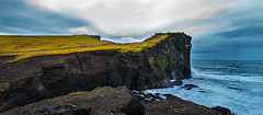 The Cliff (Tore Thiis Fjeld) Tags: ocean autumn light sky panorama seascape color nature clouds lava iceland nikon waves cloudy horizon overcast cliffs reykjanes d800