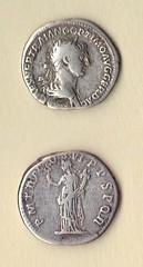 Roman Empire, Silver Denarius of Trajan, AD 98-117 (Clio Ancient Art) Tags: art greek ancient roman egyptian byzantine artifacts biblical islamic antiquities cypriot