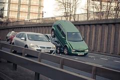 Smash (Topher Graham) Tags: road cars concrete motorway crash accident m8