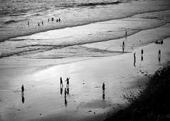 Sunset Beach Scene, Varkala (ross_123) Tags: travel sunset people india man men beach silhouette photography evening indian kerala varkala photograph local nikkor vr 18200mm