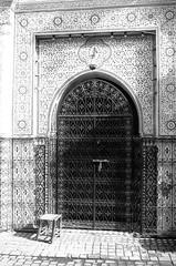 Scan-131230-0039.jpg (mathendrix) Tags: africa street door analog blackwhite marrakech roll2 nikonf3 marroco fujineopan400 homedeveloping 2013 nikoncoolscan5000ed