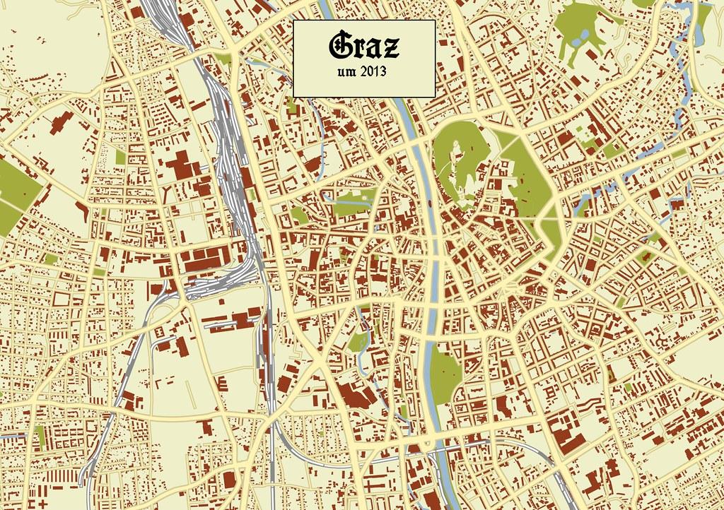 """""""Historisches"""" OSM-Layout Graz"""