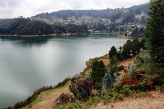 Wenchi Crater Lake (nep000) Tags: africa lake trek hike crater valley ethiopia wenchi oromia vision:sky=0712 vision:outdoor=0905 vision:ocean=073 vision:clouds=0763