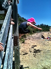Jumping off the steps. My newly six year old in motion... (miaow) Tags: birthday summer 6yo sixthbirthday