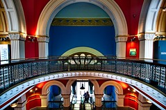 Mezzanine (evangelique) Tags: old building architecture stairs sydney australia grand nsw cbd romanesque qvb queenvictoriabuilding