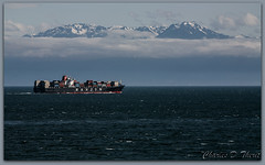 Mount Olympus from Victoria Harbor, BC, Canada (ctofcsco) Tags: 2x 5d 70200mm bc canada canon explore extender hanjin landscape mountolympus seascape unitedstates usa victoria victoriabcharbor ef70200mm f28l is usm ef70200mmf28lisusm scape america northamerica telephoto ef2x ii extenderef2xii classic eos5d eos5dclassic 5dclassic 5dmark1 5dmarki ship shipping container cargo sea ocean water mountain clouds explored teleconverter ef2xii best wonderful perfect fabulous great photo pic picture image photograph